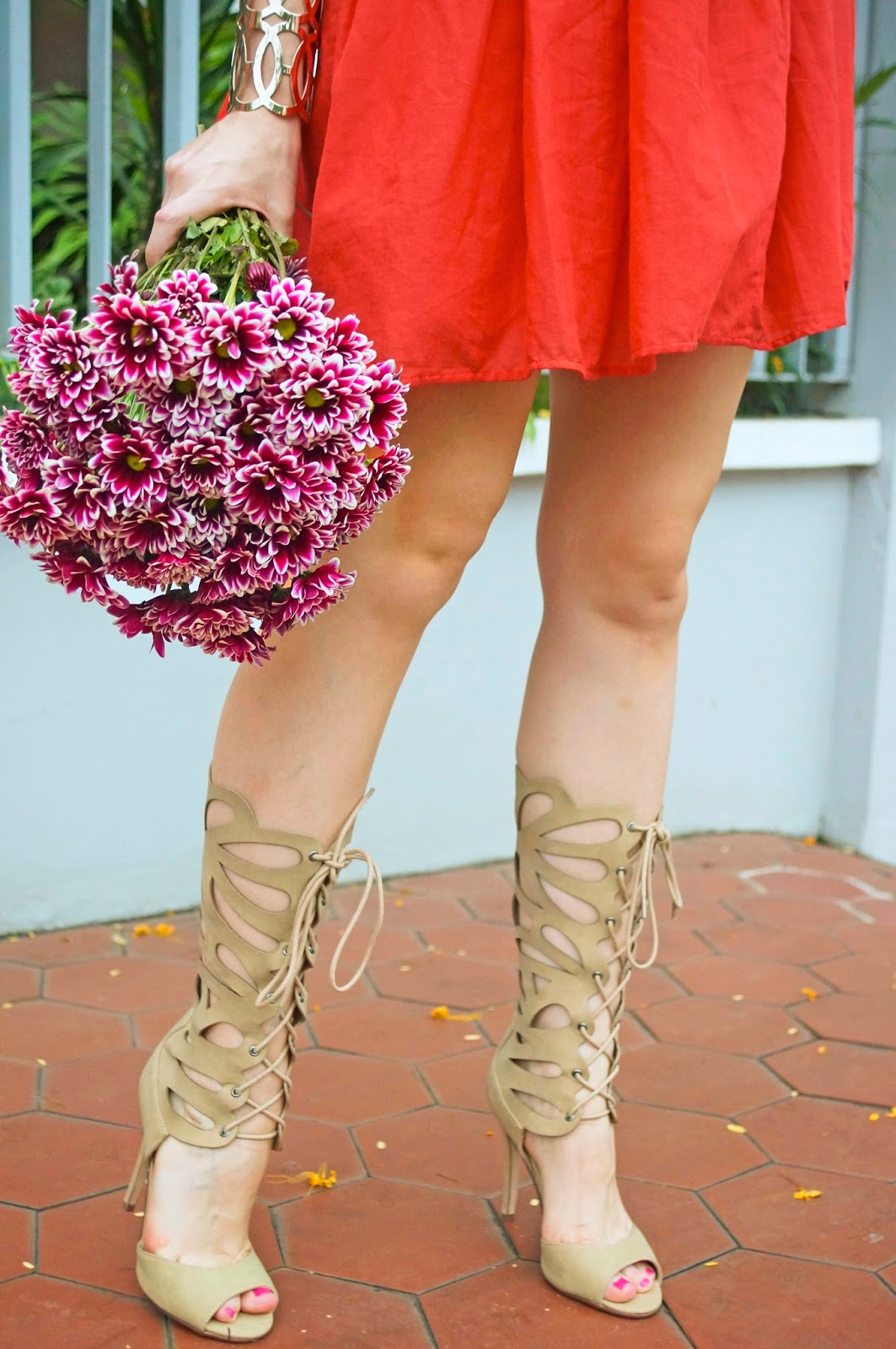 Chic and sexy gladiator boots