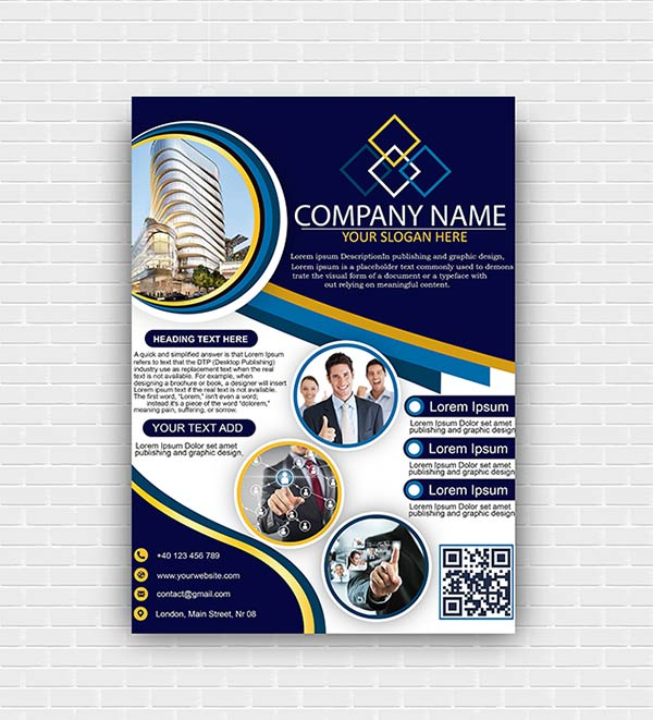 Corporate Business Flyer Template PSD Free Download