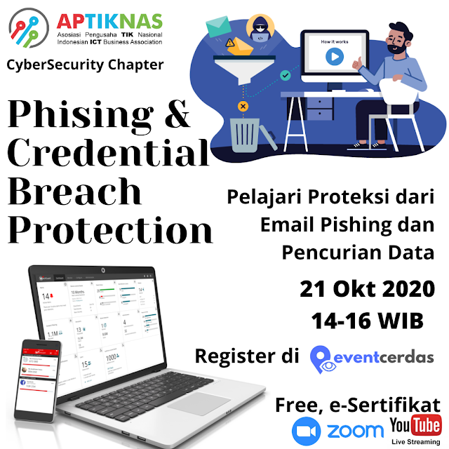 APTIKNAS CYBERSECURITY CHAPTER - PHISING & CREDENTIAL BREACH PROTECTION 21 OKT 2020