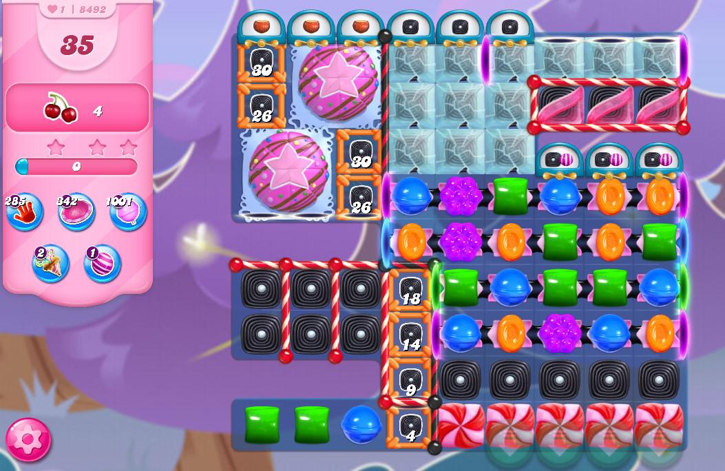 Candy Crush Saga level 8492