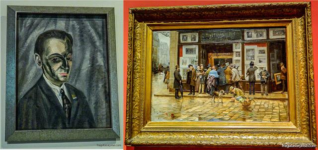 """""""Retrato de meu pai"""", de Salvador Dalí, e """"Exibição pública de uma pintura"""", de Joan Ferrer Miró"""