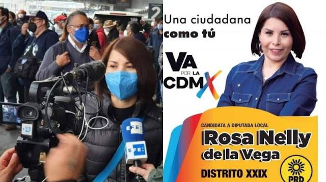 Excandidata a Diputada PRIANISTA encabeza manifestación de niños con cáncer en AICM