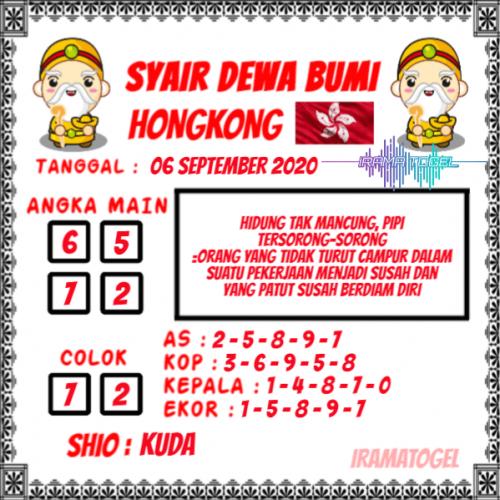 Prediksi Syair HK minggu 06 september 2020