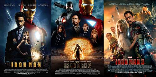 Downlaod Trilogia Homem de Ferro 1, 2 e 3 (2013)
