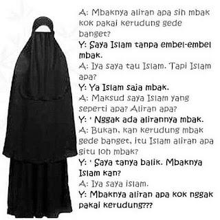 Wanita bercadar seringkali diidentikkan dengan orang arab atau timur-tengah. Padahal memakai cadar atau menutup wajah bagi wanita adalah ajaran Islam yang didasari dalil-dalil Al Qur'an, hadits-hadits shahih serta penerapan para sahabat Nabi Shallallahu'alaihi Wasallam serta para ulama yang mengikuti mereka. Sehingga tidak benar anggapan bahwa hal tersebut merupakan sekedar budaya timur-tengah.