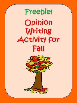 Opinion Writing Activity for Fall: This blog post contains ideas and samples for the transition from summer to fall, and a freebie opinion writing activity for beginning writers.