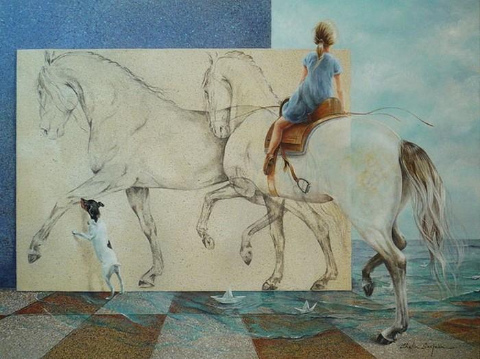 Испанский художник. Chelin Sanjuan 3