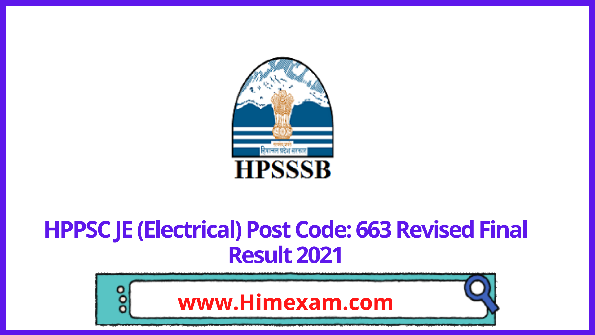 HPPSC JE (Electrical) Post Code: 663 Revised Final Result 2021