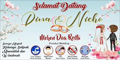 Spanduk Protokol Wedding CDR