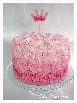 tarta rosas en degrade