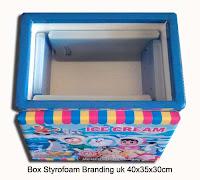 box styrofoam untuk usaha es krim bergambang ukuran sedang