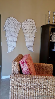 wood angel wings wall art