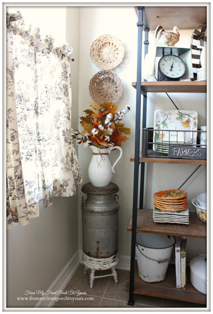 Fall- Breakfast -Nook-Cottage Style-Farmhouse Style-Fall Vignettes-Vintage-From My Front Porch To Yours