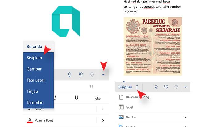 Cara Memasukan Gambar Pada MS Word Di Android