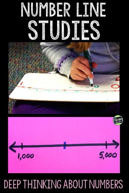 Teaching with number lines is a great way to help students visualize number sense and place value concepts.  Use number lines for intervention groups, whole class instruction, and more.  Third grade math, fourth grade math, fifth grade math, math printables, number line activities, place value activities, math workshop