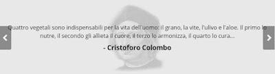 Cristoforo Colombo quattro vegetali per la vita dell'uomo