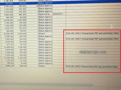efaktur error ETAX-API-10007 : Penjual Bukan PKP Saat penerbitan Faktur