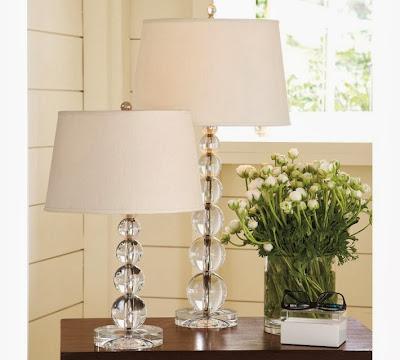 Pottery Barn Stacked Crystal Table Lamp Decor Look Alikes
