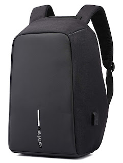 Anti Theft Water Repellent 15.6 Inch Laptop Backpack Bag with USB Charging Port