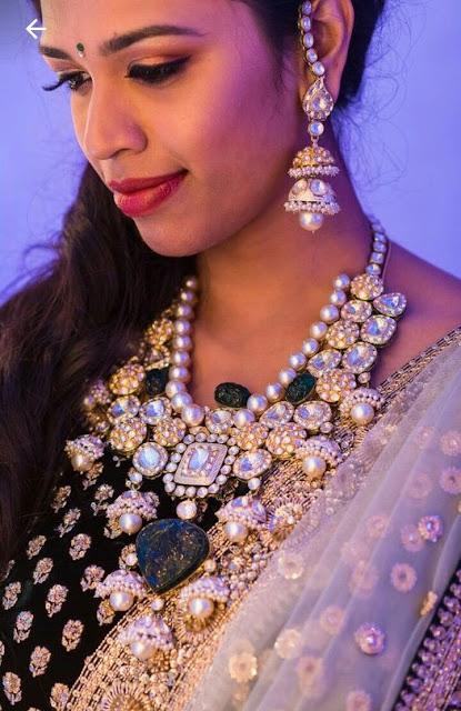 Grand Polki Curved Emerald Jewelry