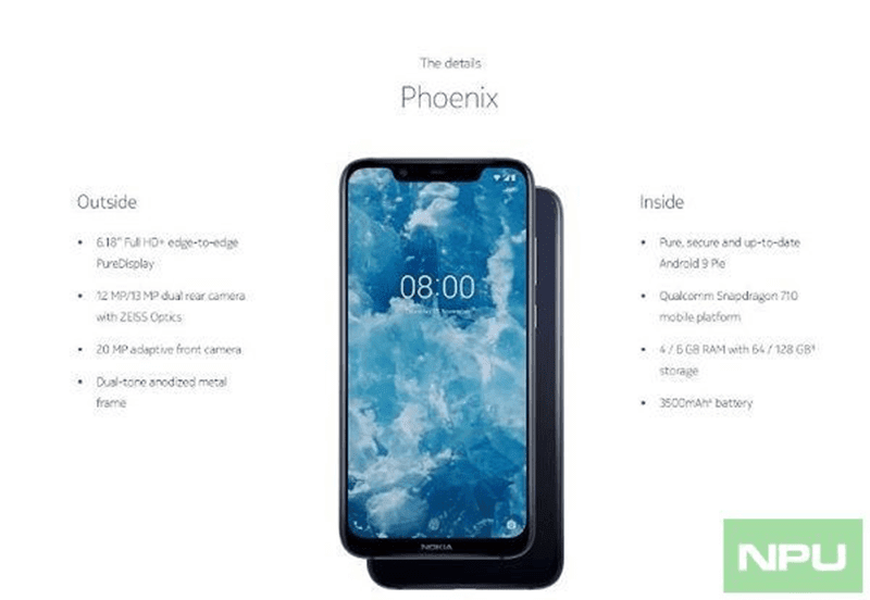Nokia 8.1 leaks, the global version of Nokia X7