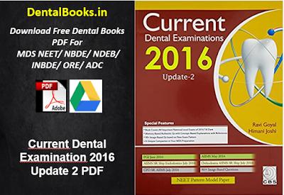 Current Dental Examination 2016 Update 2 PDF
