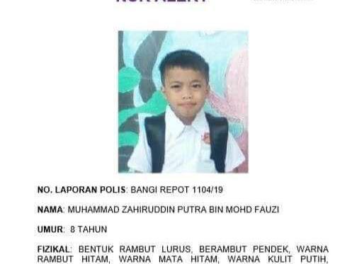 Sebarkan dan Bantu Cari Adik Zahiruddin Putra bin Mohd Fauzi