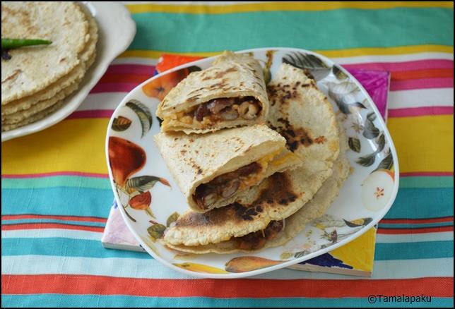 Jowar Roti Quesadilla