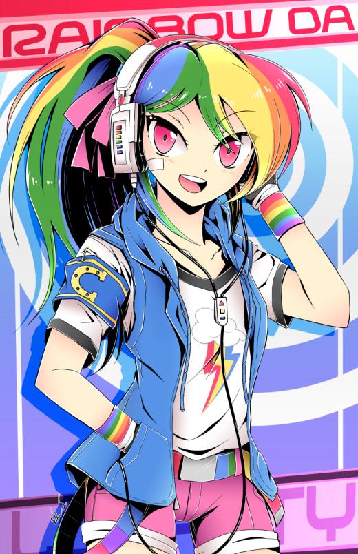 Rainbow Dash (Manga Style) by Banzatou