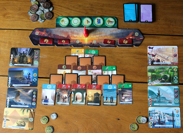7 Wonders: Duel - first age setup