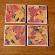 Ceramic Fall Leave Coasters From Diane's Diversions
