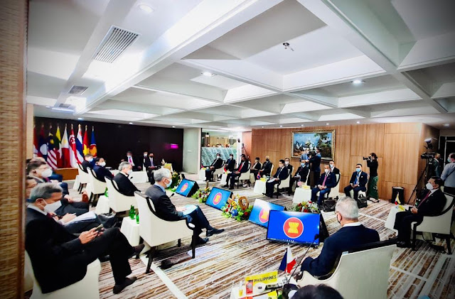 Para Pemimpin Asia Tenggara Gelar ALM Bahas Solusi Untuk Myanmar.lelemuku.com.jpg