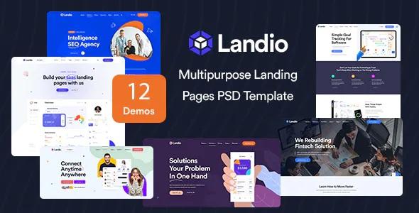 Best Multipurpose Landing Page PSD Template