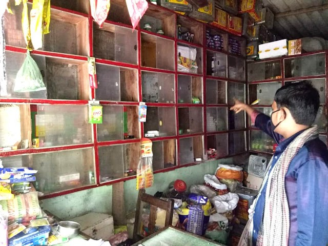गंगूली में किराना दुकान का ताला तोड़ कर लाखों की चोरी