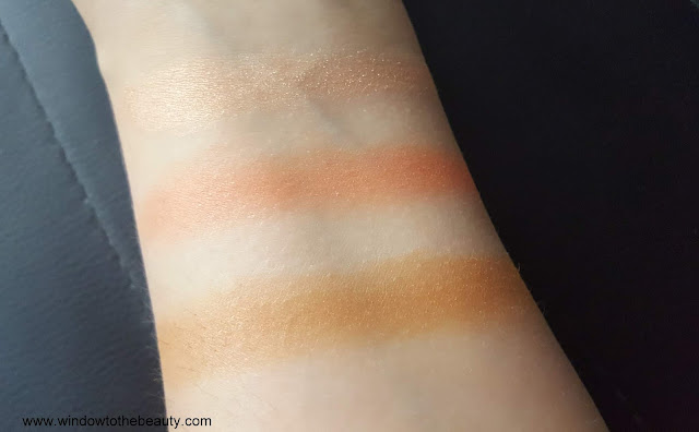 Too Faced Sweet Peach Glow face palette swatches