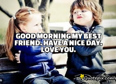 Good Morning Quotes For Best Friend:good morning my best friend, have a nice  day, love you.