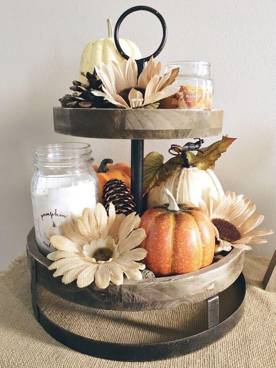 Unique Diy Farmhouse Thanksgiving Decorations Idea