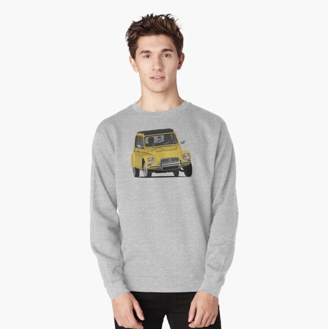 Citroën Dyane 6 classic car pullover shirt