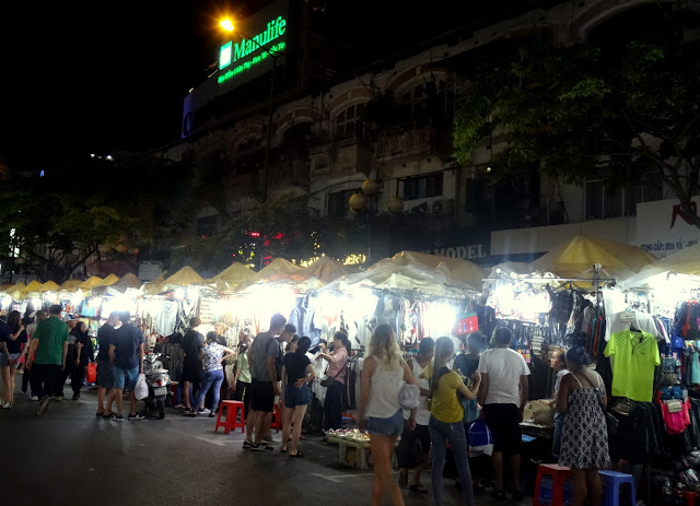 Ben Thanh Night Market in Ho Chi Minh City, Vietnam
