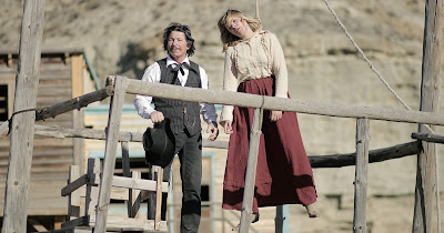 Bronzi and galpal, hanging around the set of ONCE UPON A TIME IN DEADWOOD.