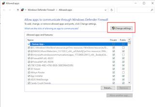 setting antivirus untuk mengijikan aplikasi yang diblock