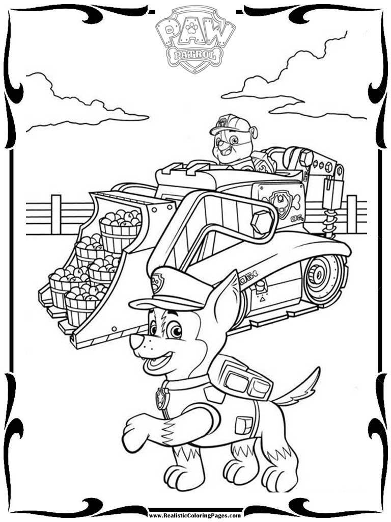 Paw Patrol Vehicles Coloring Pages Realistic Coloring Pages