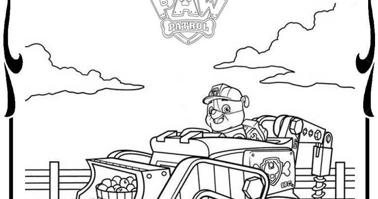 Paw Patrol Vehicles Coloring Pages