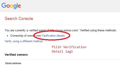 Verification Details untuk melihat detail Verifikasi