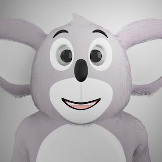 Karakter Koala pada animasi 3D musik dan lagu anak Indonesia Hoala dan Koala