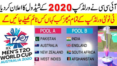 t20 world cup 2020 schedule cricket & world cup 2020 venue