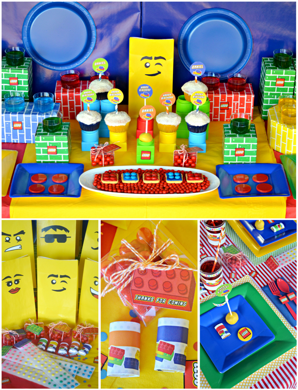 Lego Inspired Birthday Desserts Table & Party Ideas - via BirdsParty.com