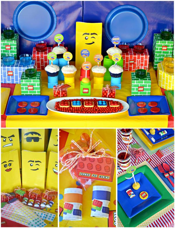 Lego Inspired Birthday Desserts Table & Party Ideas - via BirdsParty.com