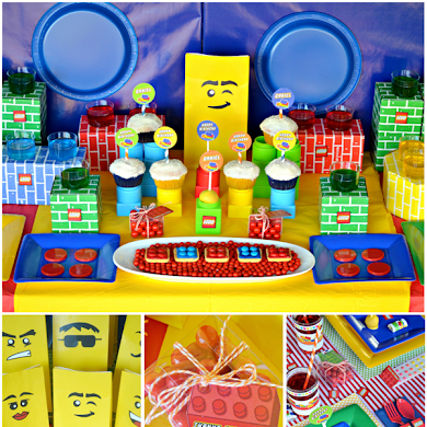 Lego Inspired Birthday Desserts Table & Party Ideas