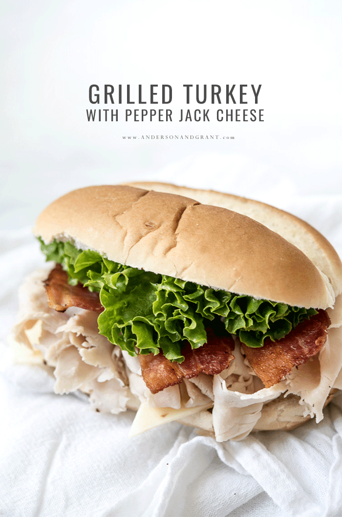 Grilled Turkey with Pepper Jack Cheese Sub